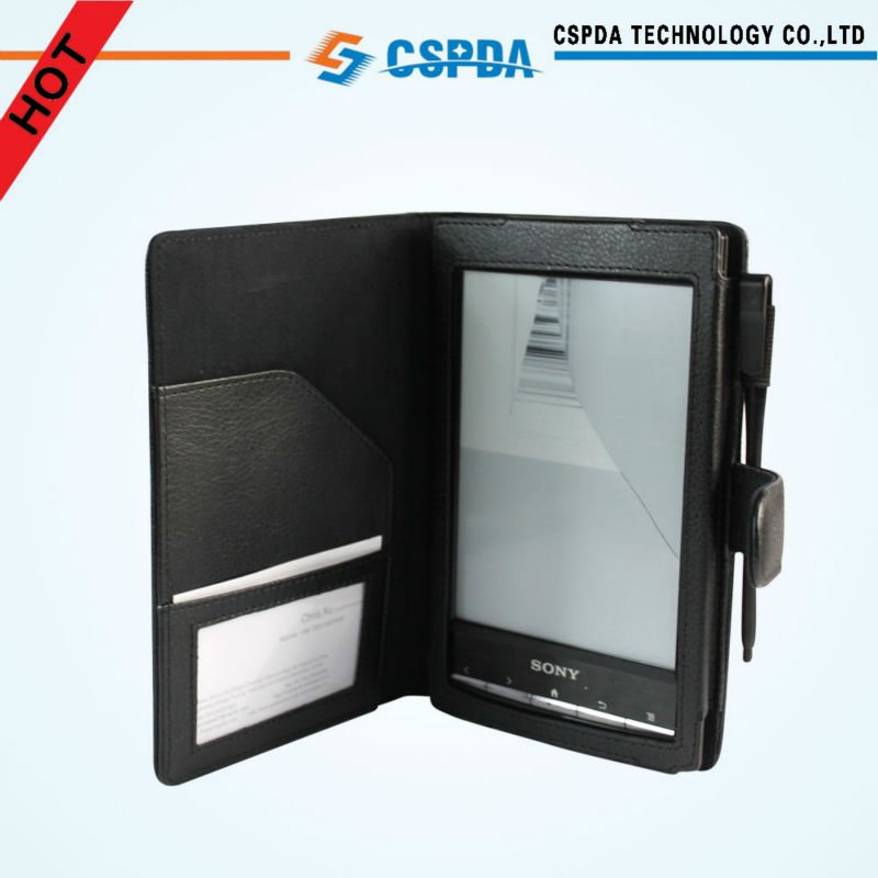 Book Style PU Leather Case with Card Holder for Sony PRS-T2 E-book