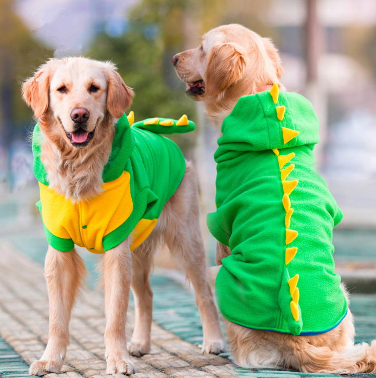 Green Dinosaur dog Costumes pet dog change outfit clothes large dog coat