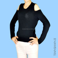 rd neck 100%cashmere sweater