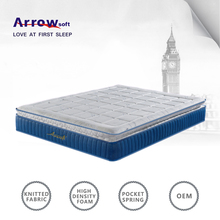 Chinese compressed foam pocket spring pillow top mattress