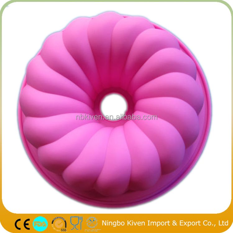 2017 New Style Silicone Hollow Pumpkin Rose Cake Bread DIY Mould Pan