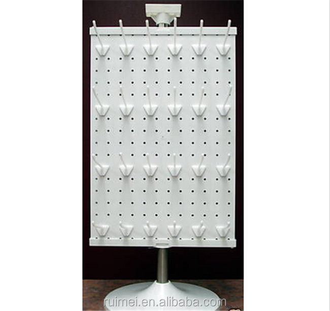 Modern Accessories Counter Top Peg Board Spinner Hooks Display Rack