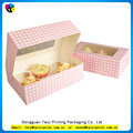 Cheap paper custom individual cupcake boxes