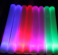 Creative novelty foam led cheer stick for party, multicolors led foam stick wholesale foam roller