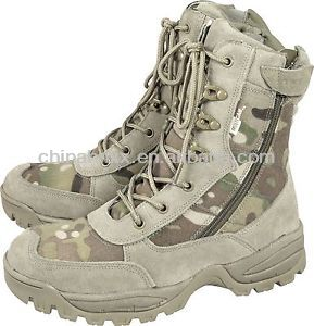 military digital camouflage commando combat boots