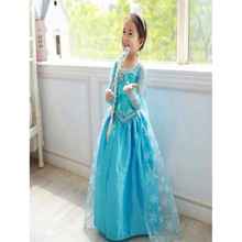 Hot sale clothes kids custom made elsa queen dress cosplay costume for party