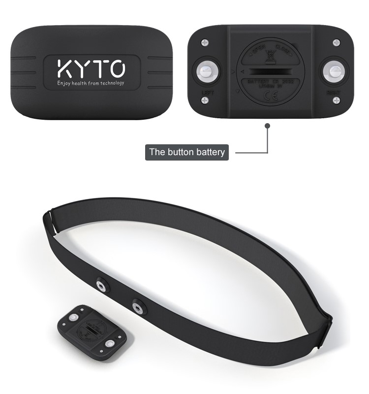 KYTO original team use heart rate chest belt for club coaching