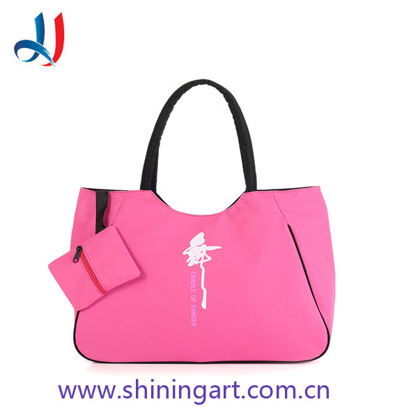 Factory products functional soft waterproof ladies pink nylon Dance Bag YOGA bag for girls