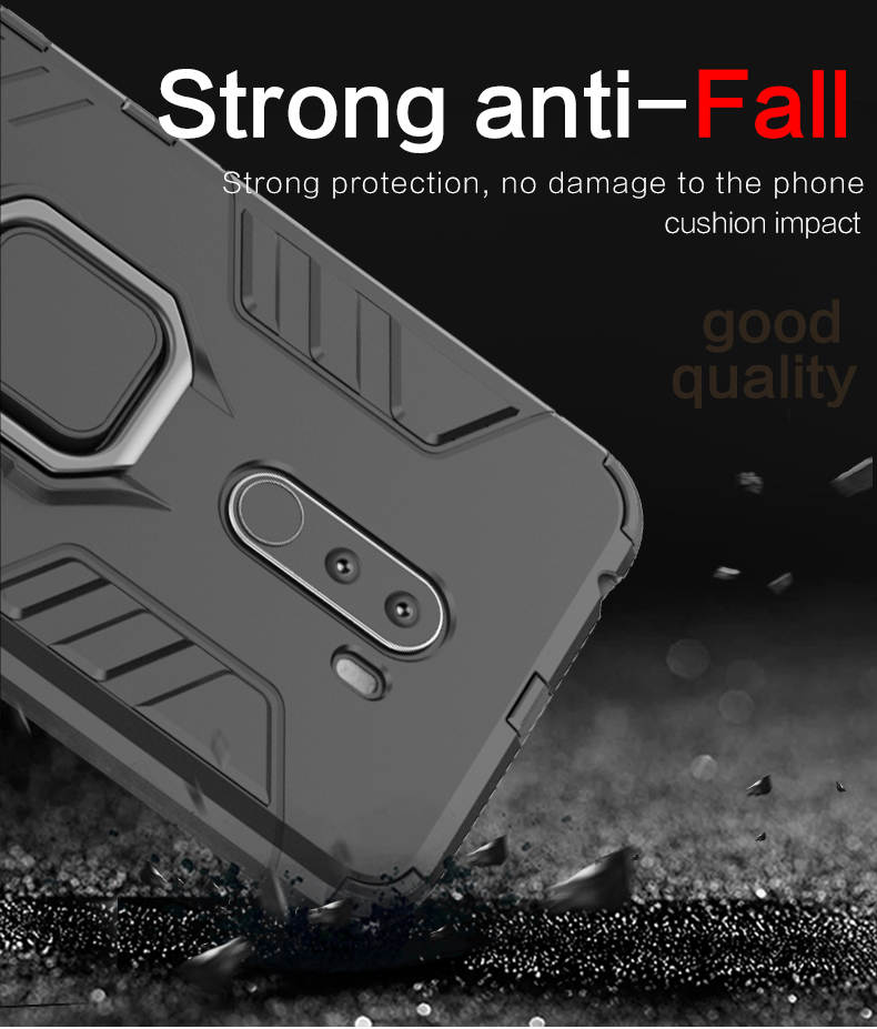 High quality metal ring mobile case covers for Xiaomi Pocophone F1