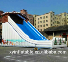 2015 hot selling inflatable christmas wide lane jumbo slide for kids