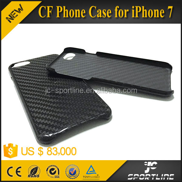 3K Twill Real Carbon Fiber Cell Case Glossy Phone Case for iPhone 7 (Oval hole)