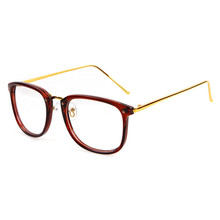 2015 Hot sell PC frame matte temples optical branded spectacle half frame