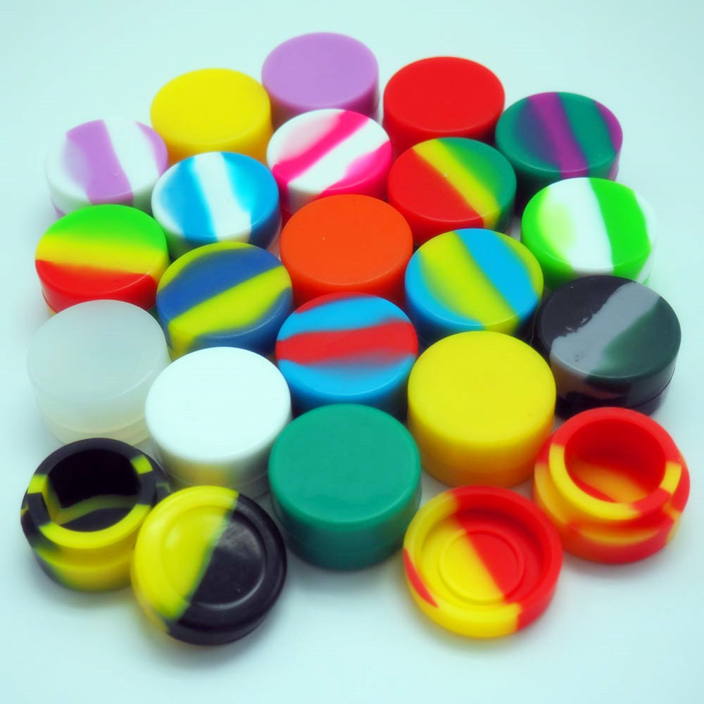 5ml Silicone smoking pipe,Silicone Jars for oils