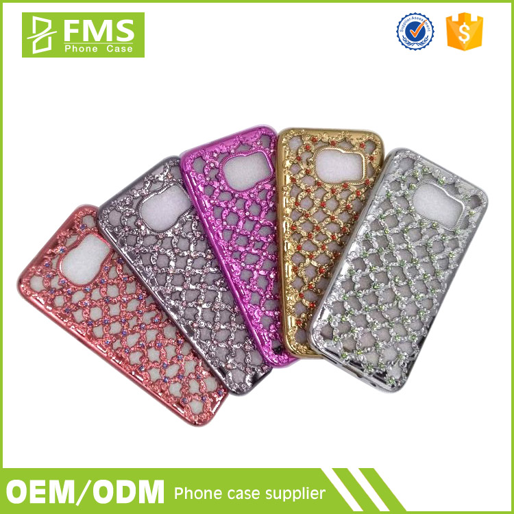 Fancy Stones Mobile Cover For Samsung Grand Prime Galaxy S5 Note 5 Asus Zenfone 5 Electroplating Cell Phone Case