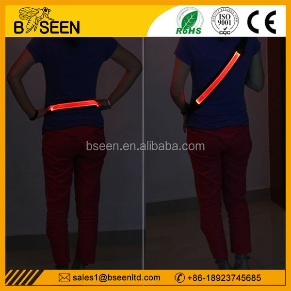 new products usb charge running belt with led light