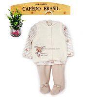 baby matching clothing winter 3 pcs suit warm cute animal clothes suit new born baby clothes set