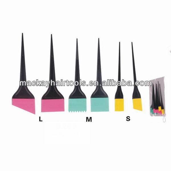Various silicon tint brush silicon hair brush hair color brush