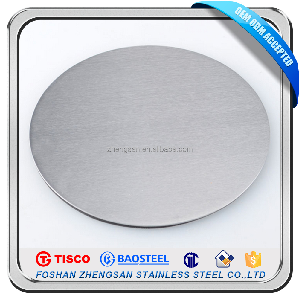 China Manufacturer 201BA 2B Finish Stainless Steel Circle with High Quality
