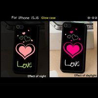 TPU or PC Material case For IPhone 4 4g 5 5s 5c 6 back cover light glow in dark
