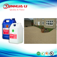 Clear Liquid Epoxy Resin for Pathway/driveways/ Mixing With Pabble/Marble