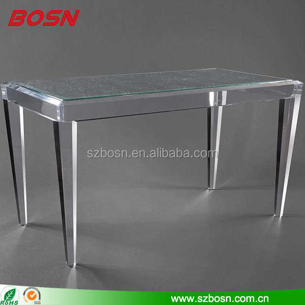 Classic crystal acrylic dinning table lucite table; clear round concise acrylic table