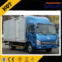 China brand FAW 4x2 5 tons small van truck cargo box truck for sale
