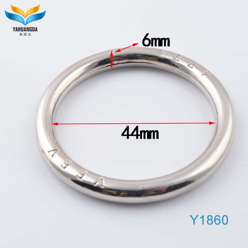 wholesale custom logo zinc alloy metal silver o ring for handbag hardware