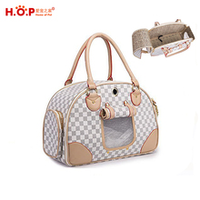 Fashion PU Leather Luxury Cat Carrying HandbagTote Wholesale Pet Dog Carrier For Outdoor Travel