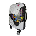 ABS PC Printed Luggage Suitcase With Beautiful Butterfly Pattern