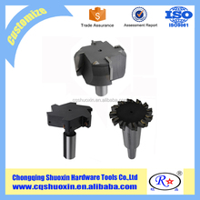 professional indexable left handed end face milling cutter manufacturer