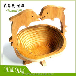 Environmental protection bamboo fruit basket made in China