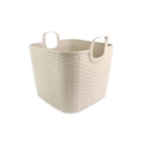 Greenside Eco-Friendly 990g weave PE wire laundry baskets with handle