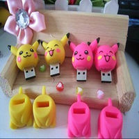 Lovely Usb Cartoon Pikachu Pen Drive 4gb