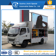 Scrolling advertising billboard mobile led display trucks for sale