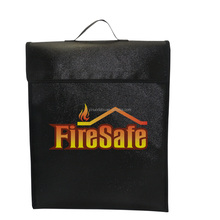 Silicone coated glassfibre fire resistant office file holder bag fireproof document bag