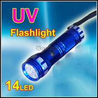 Leak Detector A/C Automotive Fluid Gas Detector 14 LED Black Light UV Flashlight