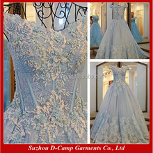 WD012 Off the shoulder ice blue bling wedding dresses ball gown weddingdress