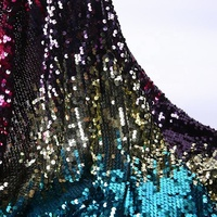Polyester gradient color sequin mesh luxury tulle spangle embroidery fabric for cushion