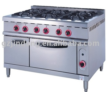 Gas Range With 6-Burner & Oven