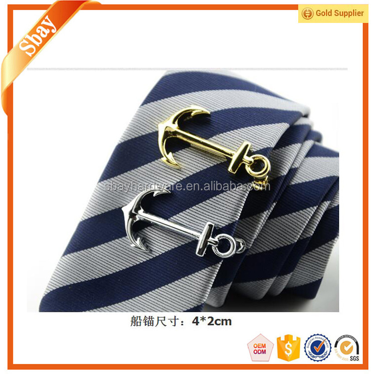 Mens fashion accessories of funny boat anchor tie clip