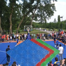 Factory In Qingdao China Promotion Personalized outdoor basketball court rubber mat