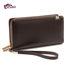 Men's Double Zipper Wallet High Quality Marvelous Persioality Leather wallets for men and boys