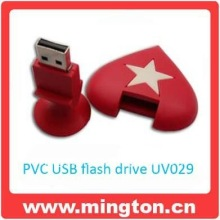 PVC heart shape usb flash memory