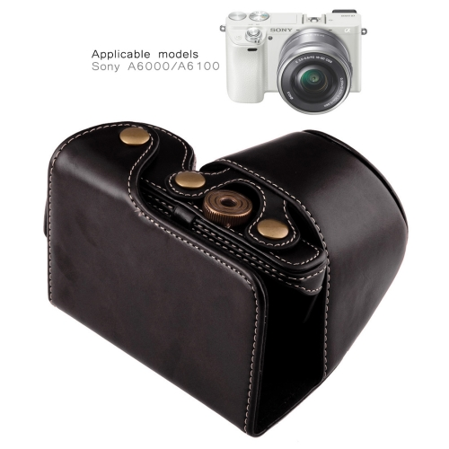 Wholesale Full Body Camera PU Leather Case Bag with Strap for Sony A6000