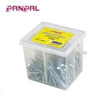 Cheap price 1200g assorted sizes zinc plated steel common flat head wire nail