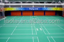 Hot sale PVC indoor sports court floor mat badminton court rubber flooring