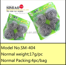 SM-404 pot and pan scrubber stainless cleaning scourer