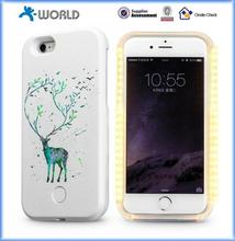 Goods in store led light selfie phone case for wholesales