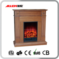 wood compact indoor used modern electric fireplace mantel