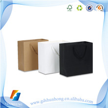 simple nice design carrier printed paper shopping bag with handle wholesale online